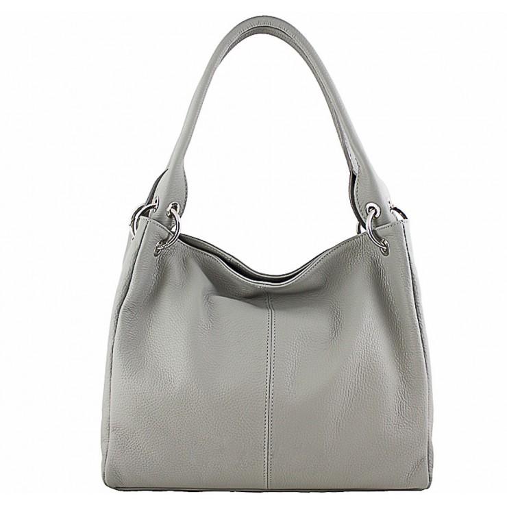 Dámska kožená kabelka 1107 šedá