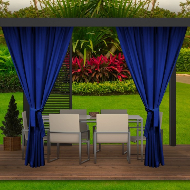Garden curtain on the terrace MIG143 azure blue