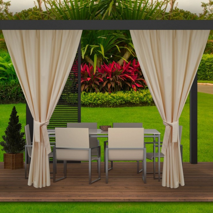 Garden curtain on the terrace MIG143 beige