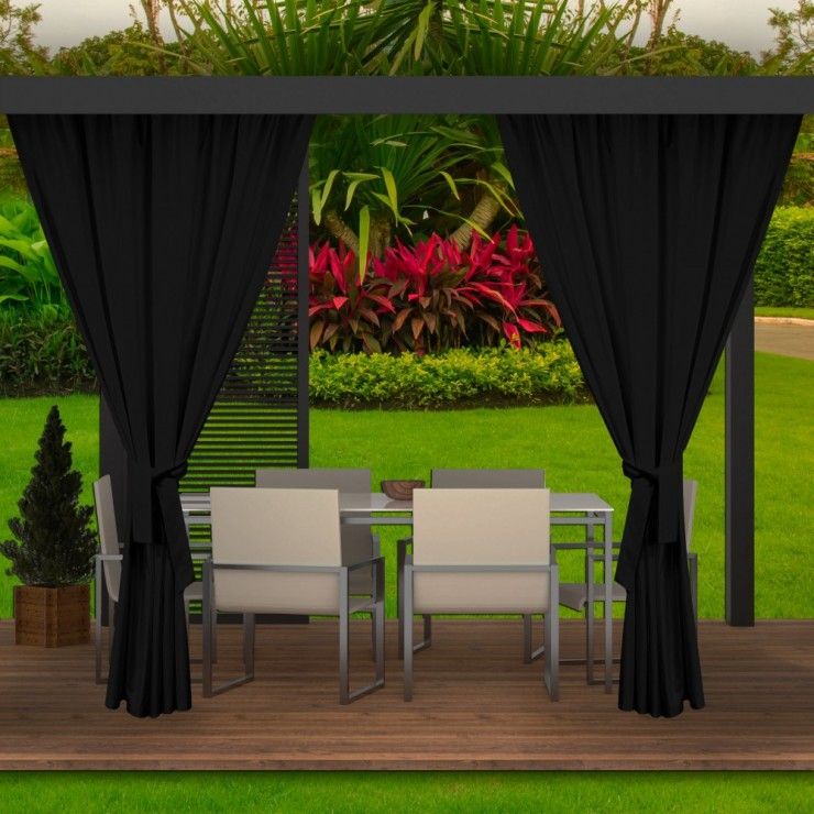Garden curtain on the terrace MIG143 black