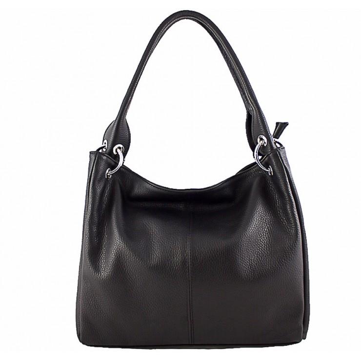 Dámská kožená kabelka 1107 černá