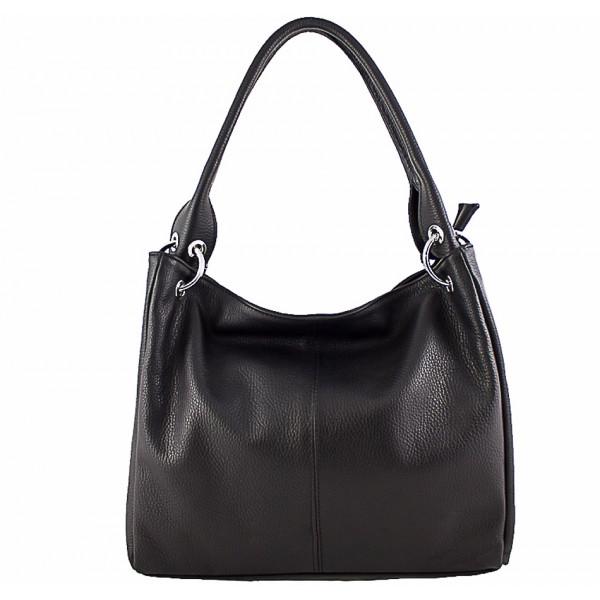 Dámska kožená kabelka 1107 čierna