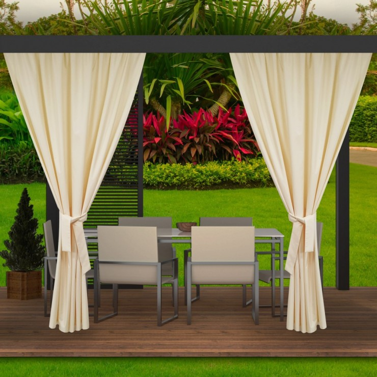 Garden curtain on the terrace MIG143 cream