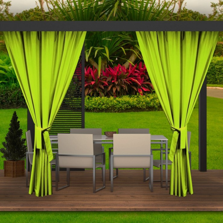 Garden curtain on the terrace MIG143 green lime