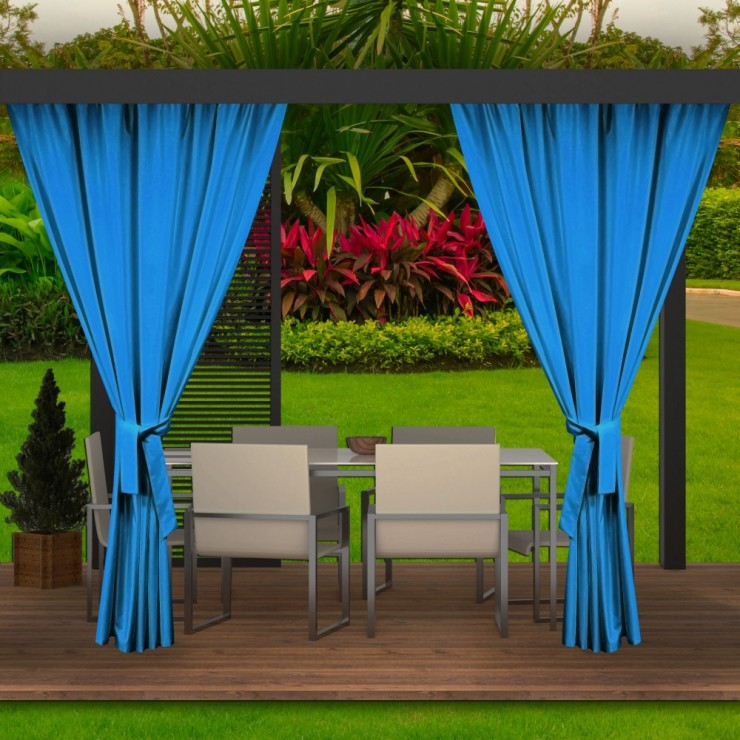 Garden curtain on the terrace MIG143 light blue
