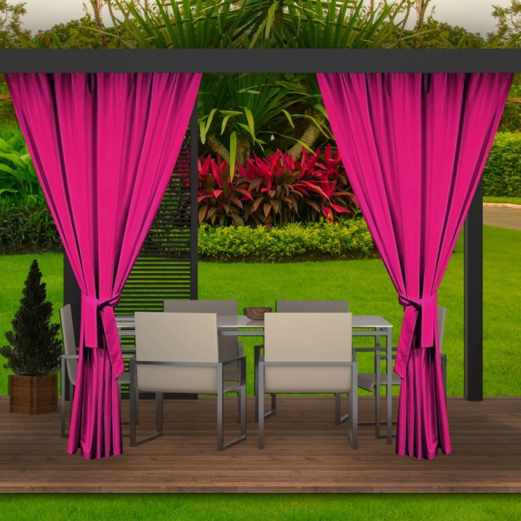 Garden curtain on the terrace MIG143 pink