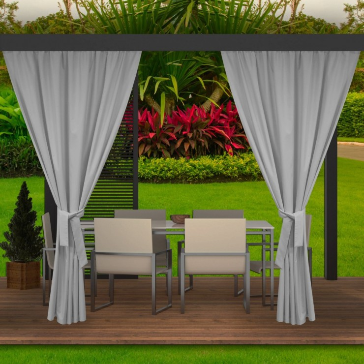 Garden curtain on the terrace MIG143 light gray