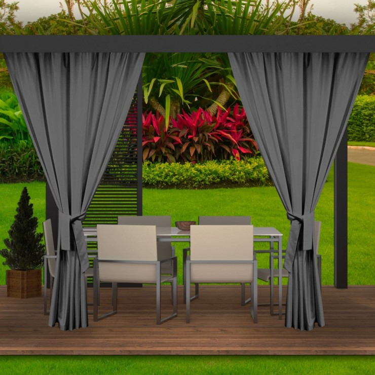 Garden curtain on the terrace MIG143 dark gray