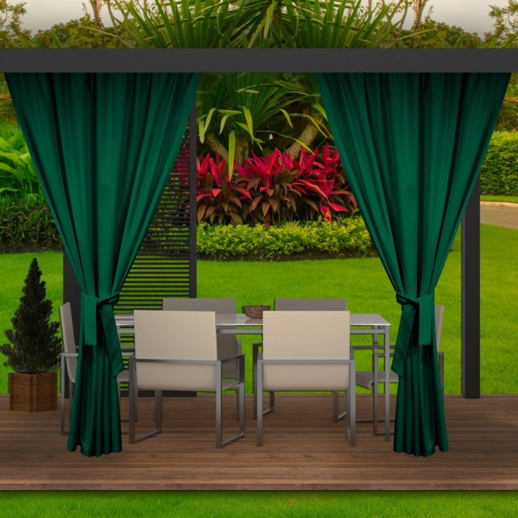 Garden curtain on the terrace MIG143 dark green