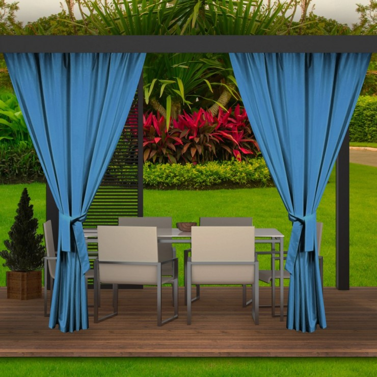 Garden curtain on the terrace MIG143 turquoise