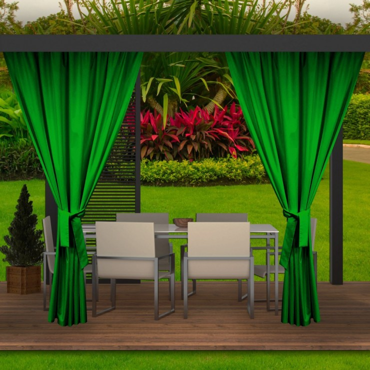 Garden curtain on the terrace MIG143 green
