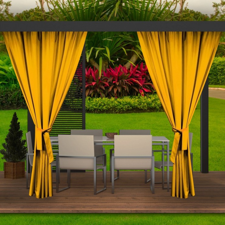 Garden curtain on the terrace MIG143 yellow