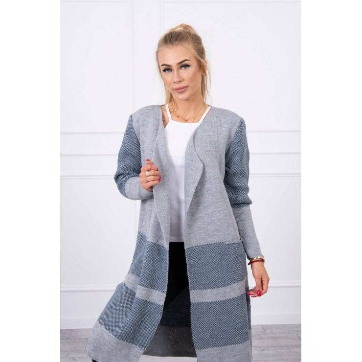 Women's lapel sweater MI2019-26 gray
