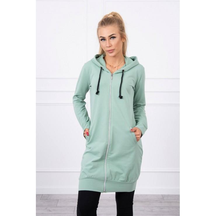 Hooded dress with e hood  MI8924 dark mint