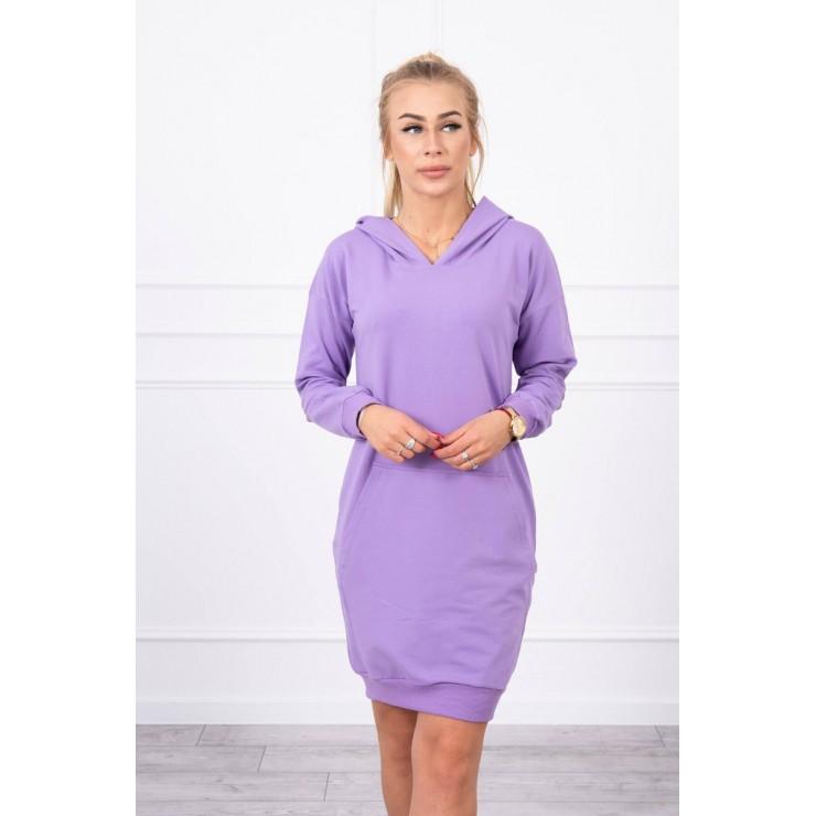 Dress with hood MI67292 purple