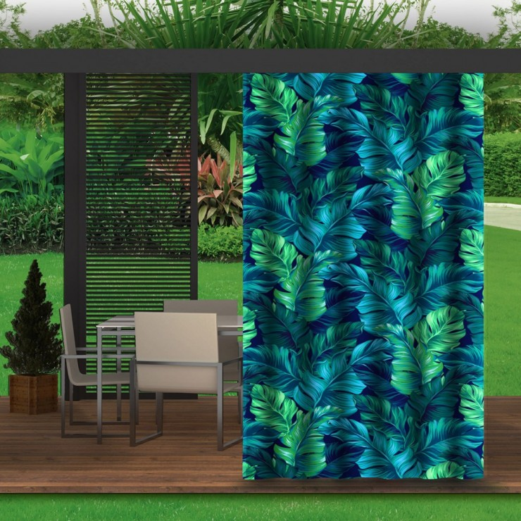 Garden curtain on the terrace MIG143 green leaves
