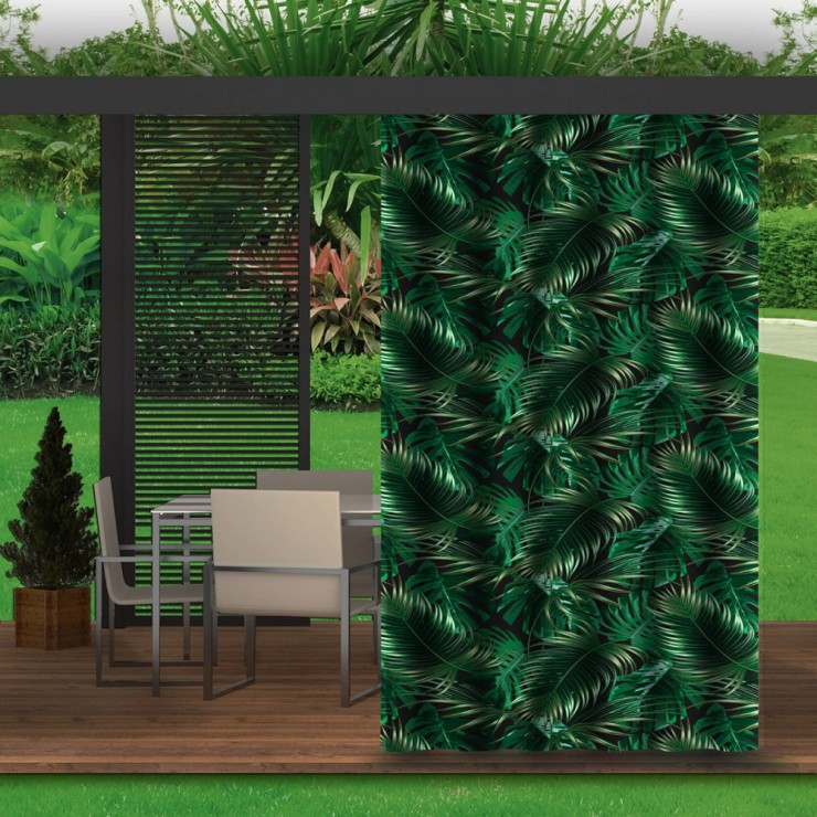 Garden curtain on the terrace MIG143 palm leaves