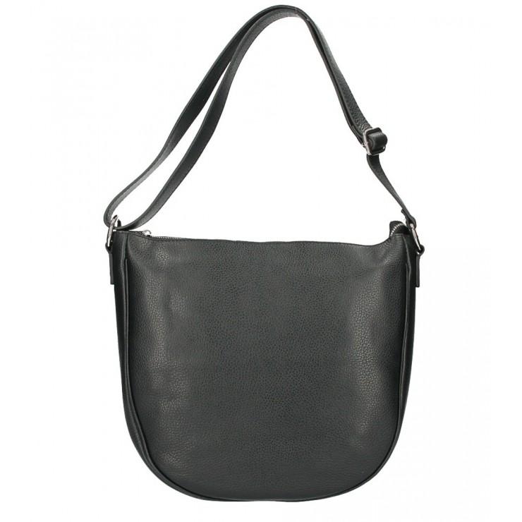 Kožená kabelka na rameno 588 černá MADE IN ITALY