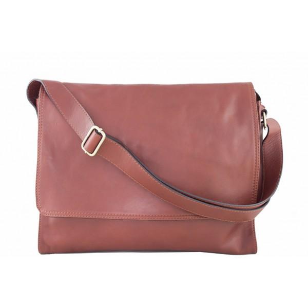 Pánska kožená taška na rameno 696 hnedá MADE IN ITALY Hnedá