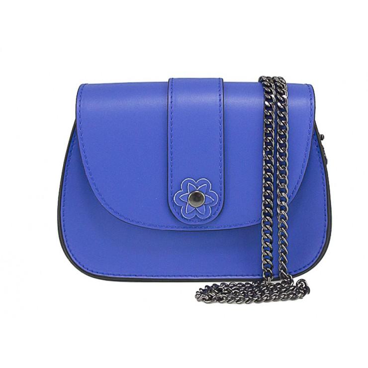 Kožená kabelka 661 azurovo modrá