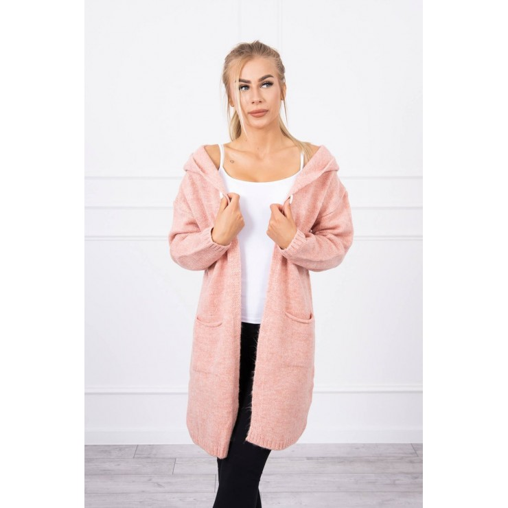 Sweater with hood MI2020-10 powder pink