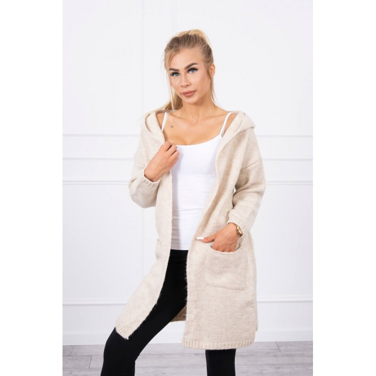 Sweater with hood MI2020-10 ligh beige