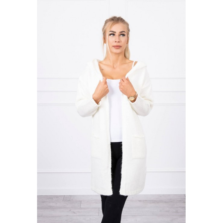 Sweater with hood MI2020-10 cream