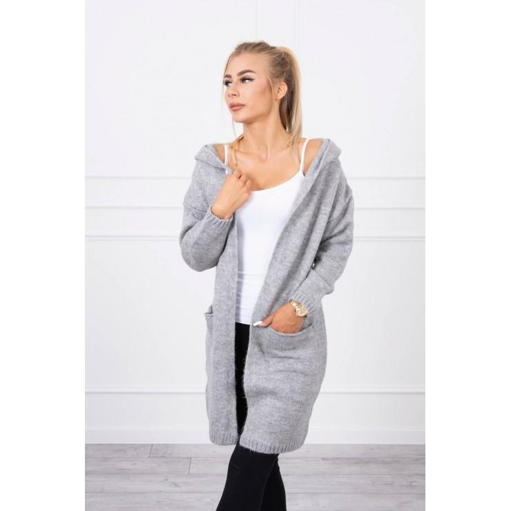 Sweater with hood MI2020-10 gray