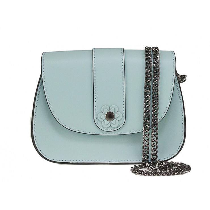 Kožená kabelka 661 nebesky modrá