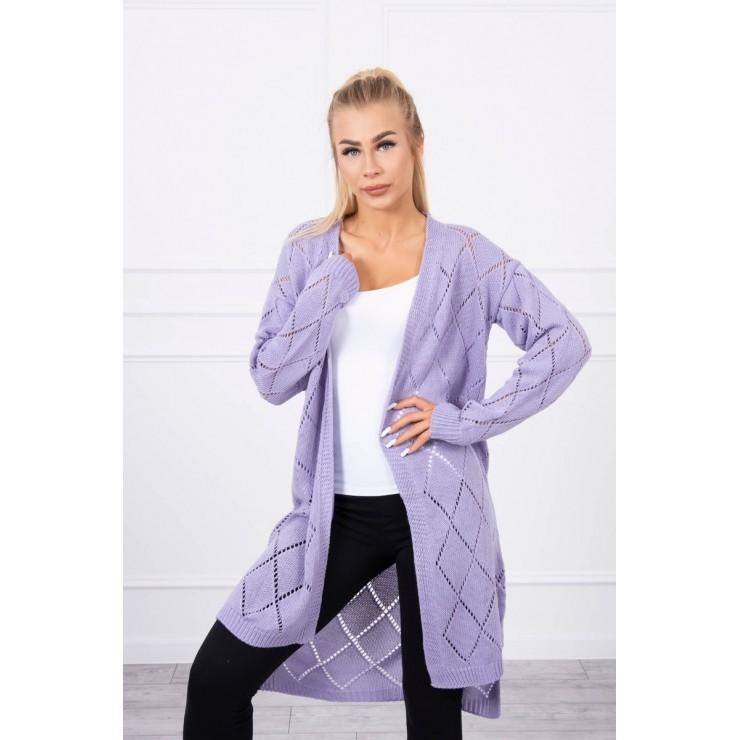 Women's sweater with geometric pattern MI2020-4 purple