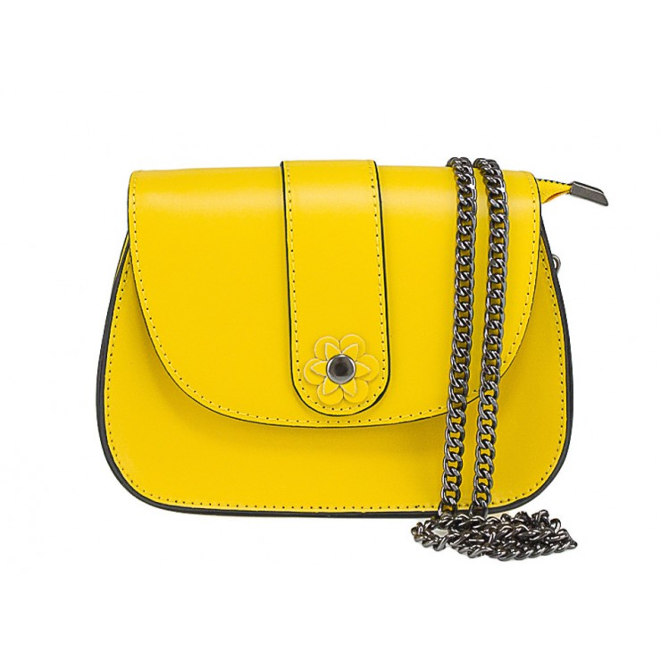 Kožená kabelka 661 žltá