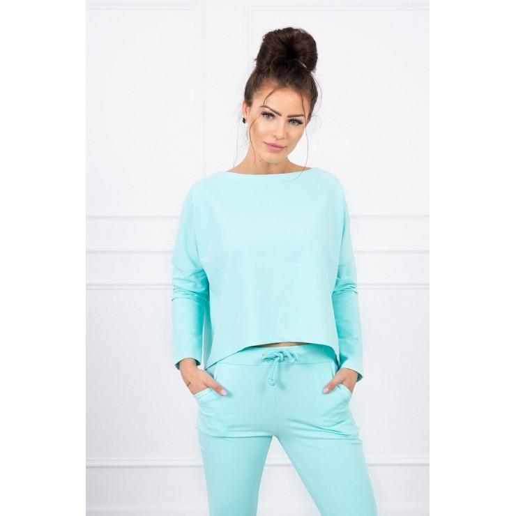 Women's set with oversize blouse MI9091 mint