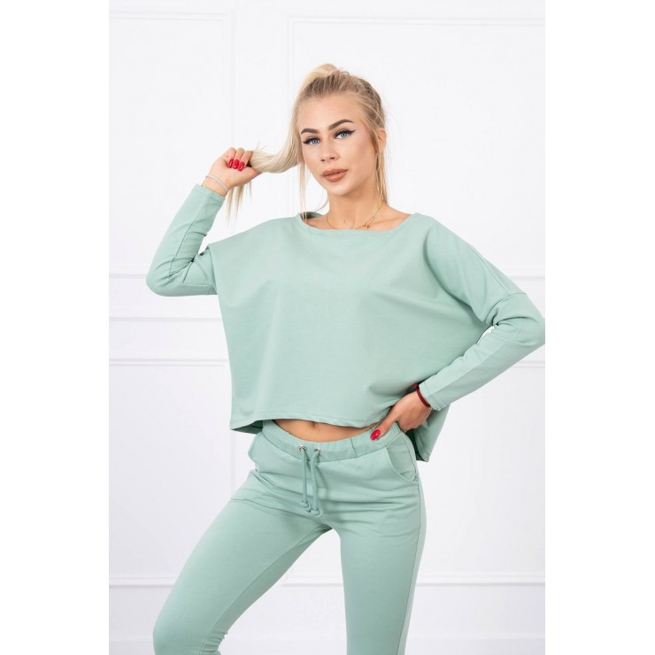 Women's set with oversize blouse MI9091 dark mint