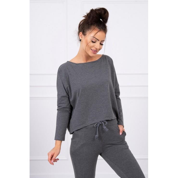 Women's set with oversize blouse MI9091 graphite