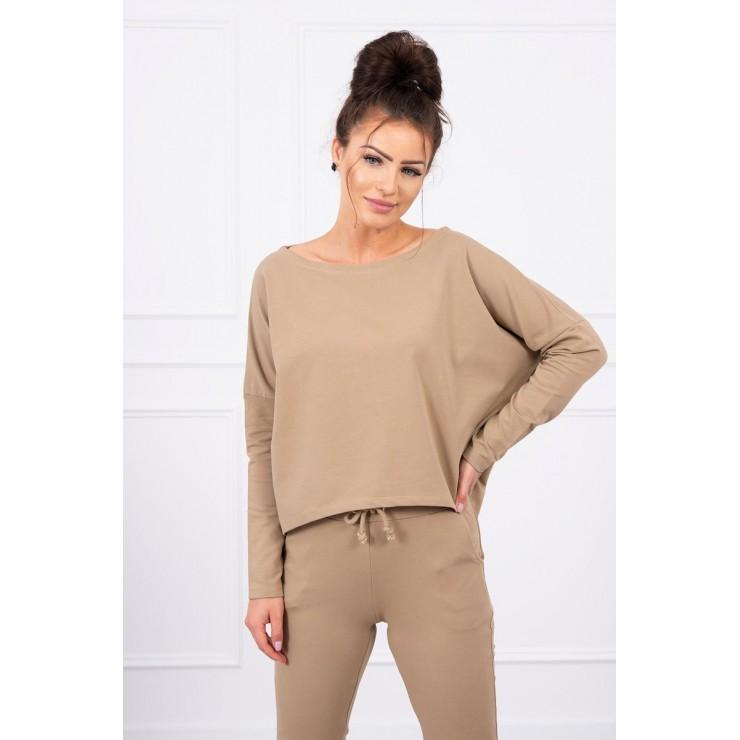 Women's set with oversize blouse MI9091 camel