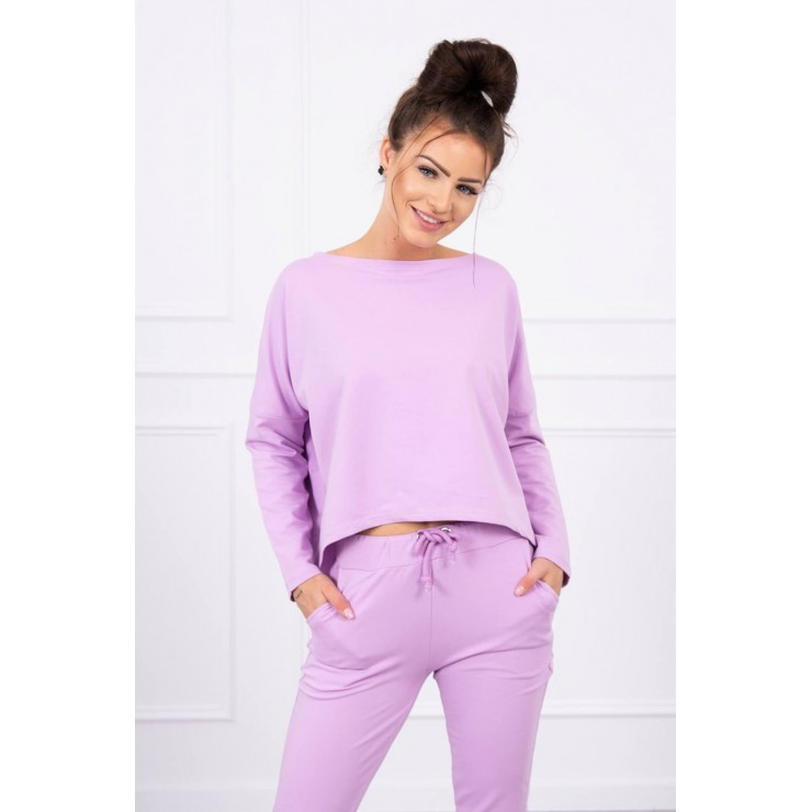 Women's set with oversize blouse MI9091 purple