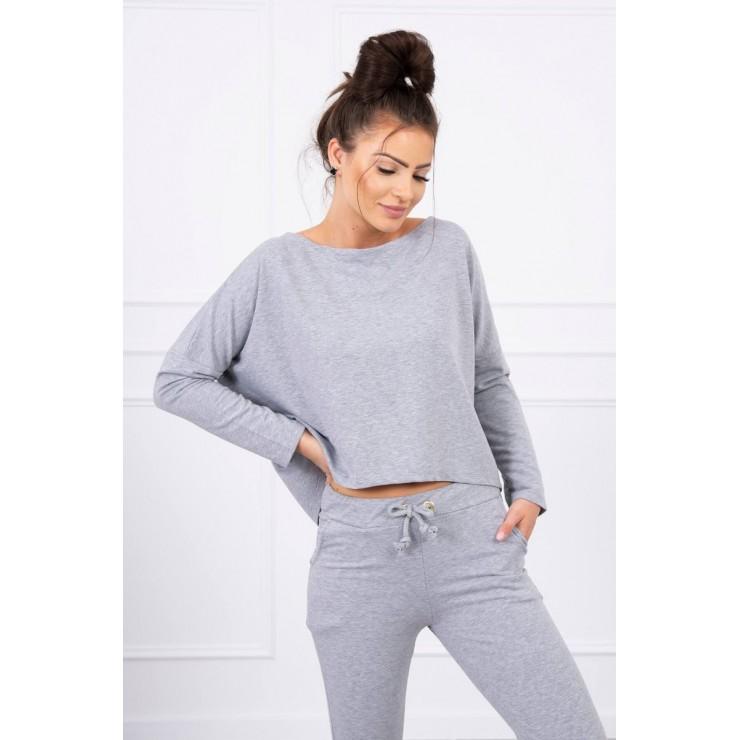 Women's set with oversize blouse MI9091 gray