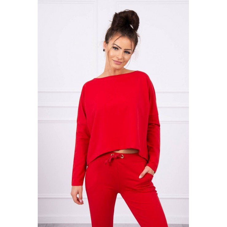 Women's set with oversize blouse MI9091 red