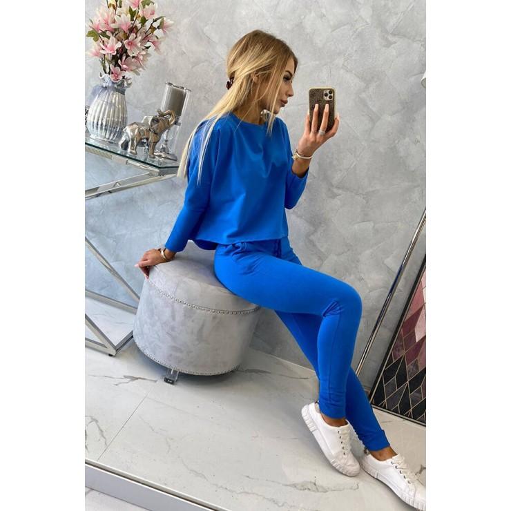 Women's set with oversize blouse MI9091 bluette