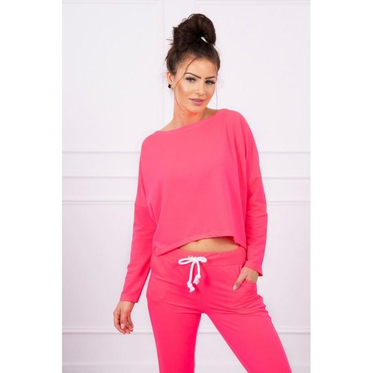 Women's set with oversize blouse MI9091 pink neon