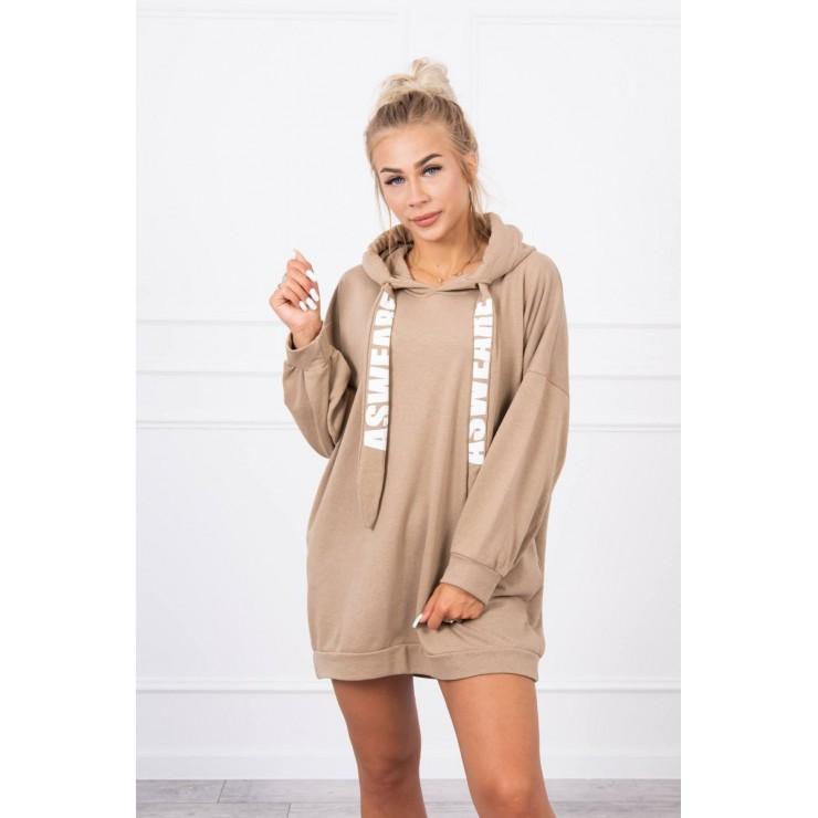 Šaty s kapsou MI9109 kamel