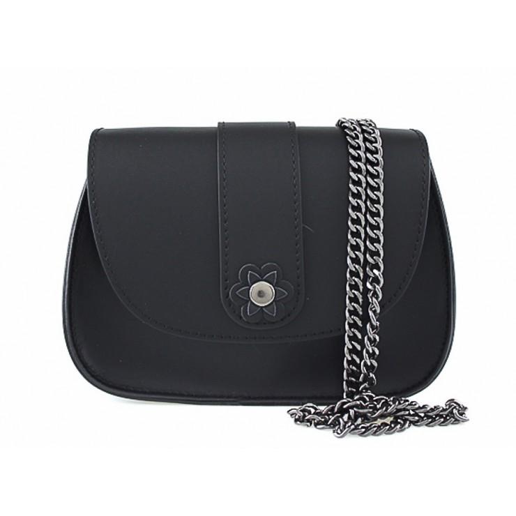 Kožená kabelka 661 čierna