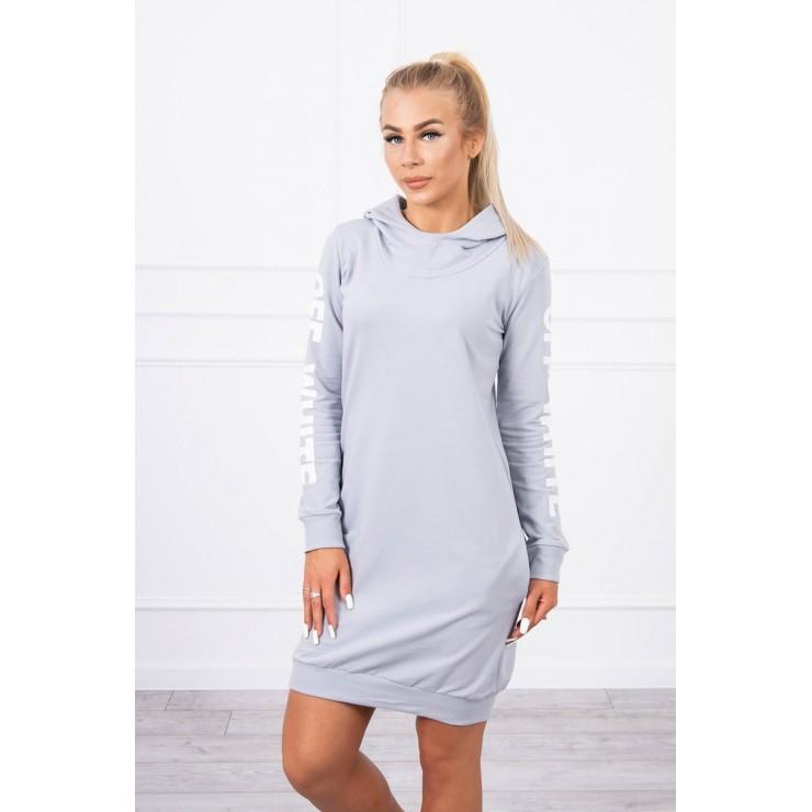 Šaty Off White MI62072 světle šedé
