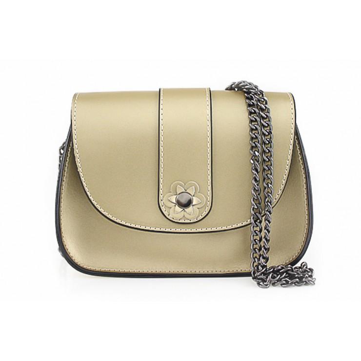 Kožená kabelka 661 zlatá