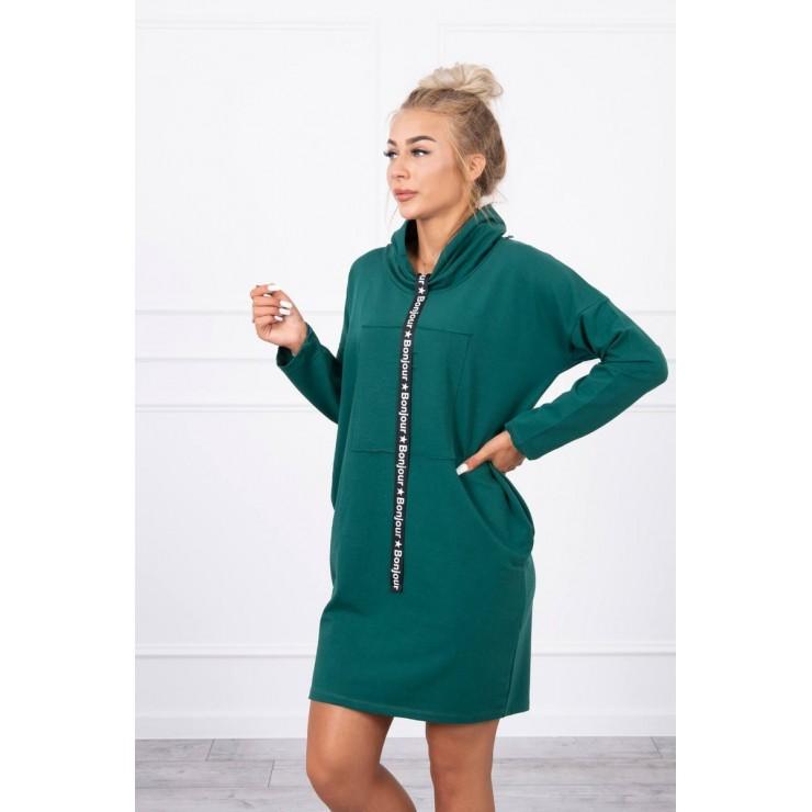 Šaty s kapucí Bonjour MI0153 zelené