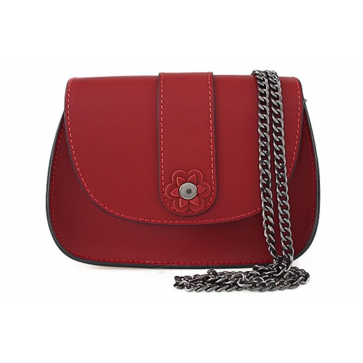 Kožená kabelka 661 červená