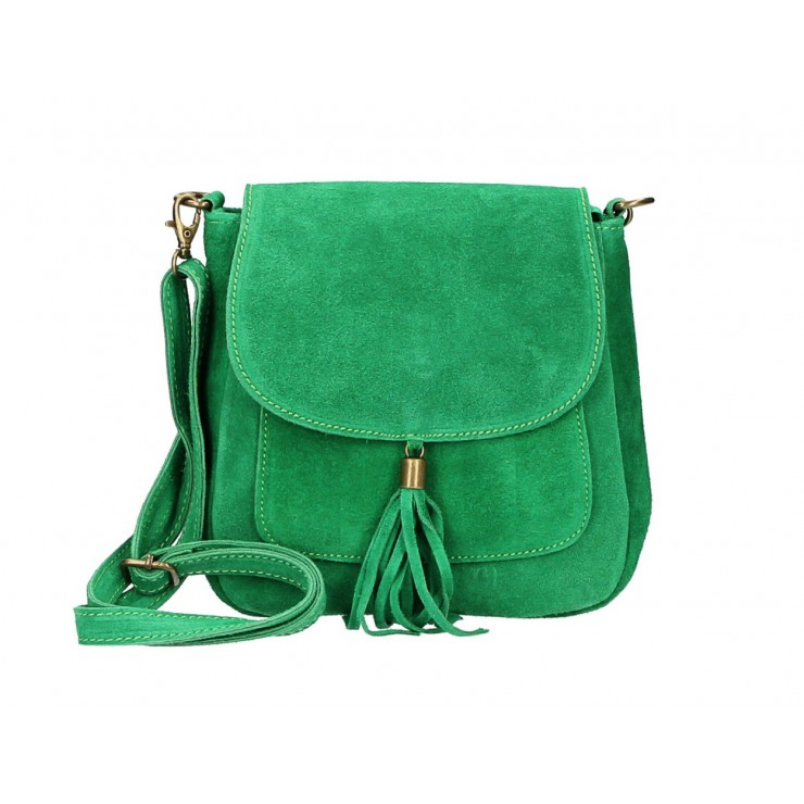 Kožená kabelka na rameno 1147 zelená