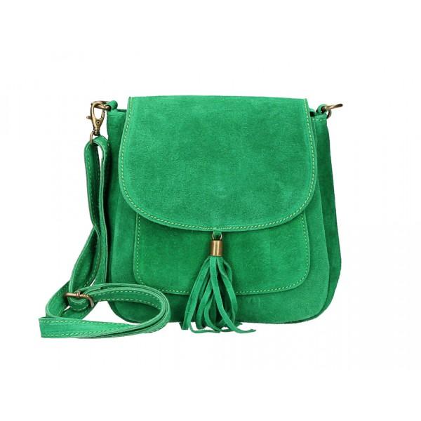 Kožená kabelka na rameno 1147 zelená Zelená