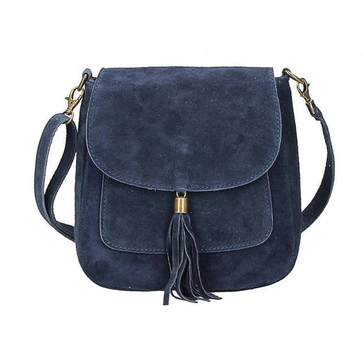 Genuine Leather Handbag 1147 blue