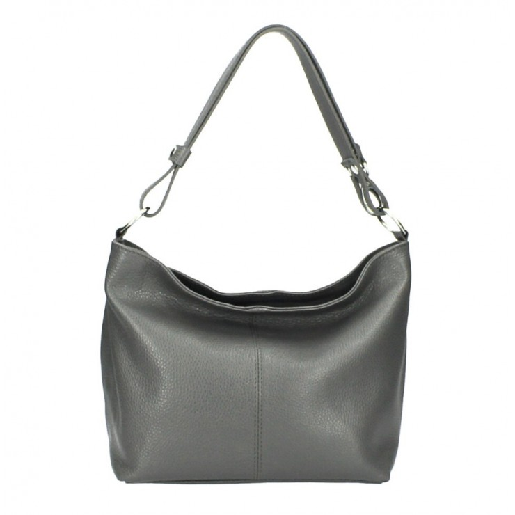 Genuine Leather Handbag 729 dark gray